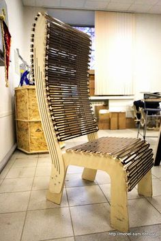 Спинка кресла съемная - по тем же чертежам можно сделать стульчик для ног