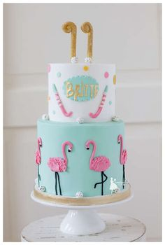 Taartjes-van-An-taart-nunspeet-bruidstaart-nunspeet-bruidstaart-gelderland-kindertaart-nunspeet-taart-nunspeet-flamingotaart-nunspeet-hockeytaart-nunspeet flamingo birthday cake flamingo cake