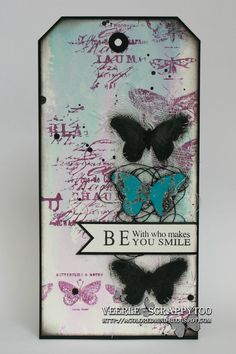Pébéo, tag, Tim Holtz, watercolor, butterfly