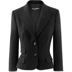 Dolce & Gabbana Black Blazer Single found on Polyvore