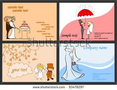 Set of wedding backgrounds for your design, vector - stock vector