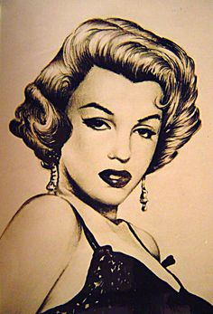 Marilyn Monroe-12x16-drawing pen on paper by PortraitsbyTorres  | This image first pinned to Marilyn Monroe Art board, here: http://pinterest.com/fairbanksgrafix/marilyn-monroe-art/ || #Art #MarilynMonroe