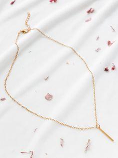 Shop Gold Bar Pendant Chain Necklace online. SheIn offers Gold Bar Pendant Chain Necklace & more to fit your fashionable needs.