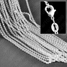 Hot Wholesale 100% Fine 925 Sterling Silver Necklace Chains With Lobster Clasps Set Fashion Cross Stylish Unisex Chains Jewelry