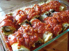 A Taste of Home Cooking: Lidia's Eggplant Rollatini