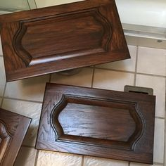 General Finishes Antique Walnut Gel Stain wipes on with a clean cloth and you're ensured of professional quality results without brush marks. Stained Kitchen Cabinets, Custom Kitchen Cabinets, Gel Stain Furniture, Painted Furniture, Staining Cabinets, Wood Cabinets, Oak China Cabinet, Java Gel Stains, Dining Table With Leaf