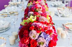Rainbow Wedding Inspiration and Colorful Table Setting Rainbow Theme, Rainbow Wedding, Rainbow Baby, Over The Rainbow, Rainbow Colors, Wedding Destination, Lgbt Wedding, Wedding Themes, Wedding Colors