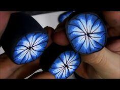 0072 - Vidéo - Tuto - Fleurs bleues féériques - FIMO PRO