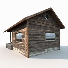 Buy Small Old Shanty Low Poly by Cerebrate on A model of Old Wooden Shanty. Business Attire For Men, Travel Brochure Template, 3d Architecture, Typography Design Layout, Low Poly, Shed, House Styles, Building, Model