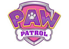 5 inch Pink & Purple Paw Patrol Logo Precut Icing CakeToppers Easy Peel & Attach Fab For Birthday Cakes