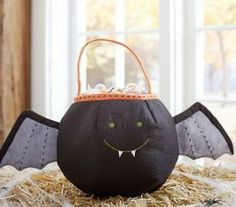 Bat Treat Bag at Pottery Barn Kids - Tricks and Treats for the Little Ghouls in Your Life {Faith, Hope, Love, & Luck Survive Despite a Whiskered Accomplice} - #Halloween #Tricks #Treats #Kids #Printables #Bengal #Cat