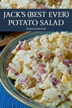 Jack's Potato Salad - A Family Feast® - Recipes Healthy Best Ever Potato Salad, Best Potato Salad Recipe, Red Potato Recipes, Betty Crocker Potato Salad Recipe, Roasted Potato Salads, Warm Potato Salads, Easy Potato Salad, Sour Cream Potato Salad, Loaded Potato Salad