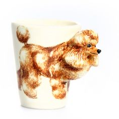 Poodle Mug Brown, $24.50, now featured on Fab.