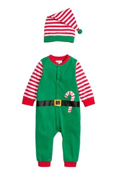 2737089725c New Kids Long Sleeve Red Green Christmas Xmas Santa Claus New Year Holiday  Costume Clothes Rompers Gift for Baby Infant  Affi…