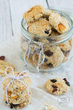Müslikekse gesund, fettarm und vegan - dieses Rezept für vegane Müsli-Cookies ist blitzschnell gebacken – und echt gute Nervennahrung!