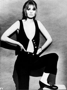 Mary Quant vest and pants, Vogue Italia, gennaio 1967,  Photo by Krasti