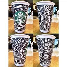 britalynn:  #tbt to one of my cup entries for the @starbucks White Cup Contest! #starbucks #art #zentangle #zenspire #sharpie #whitecupcontest  ^
