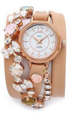 Gorgeous crystal wrap watch