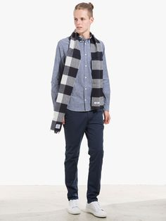 Scarf Pants and Shirt all by Norse Projects