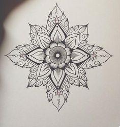 Mandala Dotwork tattoo sketch