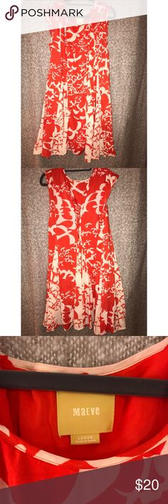 Anthropologie Maeve indiga dress Gently worn beautiful summer dress Anthropologie Dresses Midi