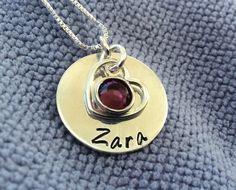 Hand Stamped, Washer Necklace, Unique Gifts, Chain, Silver, Jewelry, Jewlery, Money, Bijoux