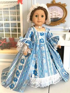 Your place to buy and sell all things handmade Williamsburg Christmas, Colonial Williamsburg, Mother Of Pearl Rose, White Lace Fabric, King Birthday, Cap And Gown, Gowns With Sleeves, Christmas Fabric, Ag Dolls