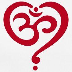 Heart Om, Spiritual, Buddha, Yoga, Goa, Symbol, Tee shirts