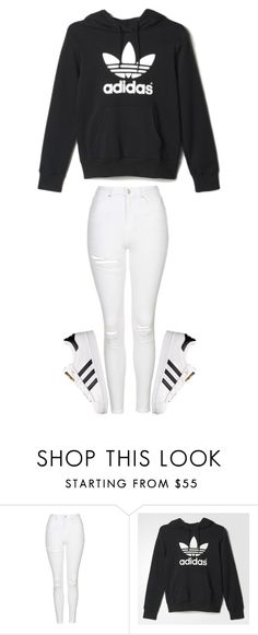 """Untitled #394"" by sydthekyd01 on Polyvore featuring Topshop and adidas"