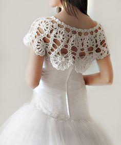 Lace Bridal Shrug Crochet Capelet