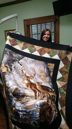 Deer quilt I made for my fiance. 2019 Deer quilt I made for my fiance. The post Deer quilt I made for my fiance. 2019 appeared first on Quilt Decor. Man Quilt, Boy Quilts, Quilt Bag, Star Quilts, Fabric Panel Quilts, Fabric Panels, Quilting Projects, Quilting Designs, Quilting Ideas