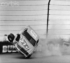 1980, Richard Petty hits the wall while leading at the turn two during the Coca Cola 500 at Pocono International Raceway  Image by  Bettmann  CORBIS