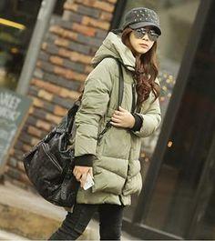 YWT0015 lamb wool hooded snap button zipper coat-army green