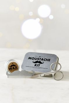 Mens Society Moustache Grooming Kit - Urban Outfitters