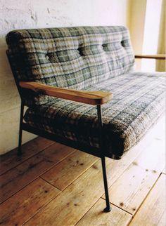 truck furniture sofa - vintage flannel