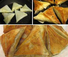 home made-Aaloo Samosa - Pakistani Food Cooked Sushi Recipes, Cooking Recipes, Indian Food Recipes, Asian Recipes, Indian Foods, Sushi Lunch, Homemade Sushi, Desi Food, Exotic Food