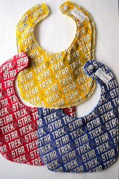 Star Trek Redshirt baby bib handmade by Bitti Bottom on Etsy