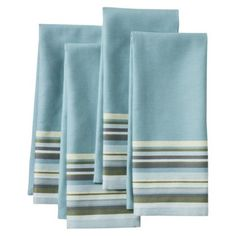 Threshold™ Yarndye Stripe Kitchen Towel Set of 4. Think I'll start with these to test crochet on the edge.
