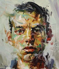 Art of my Day : Paul Wright, painting L'art Du Portrait, Abstract Portrait, Portraits, Artist Painting, Figure Painting, Painting & Drawing, Art And Illustration, Paul Wright, Art Design