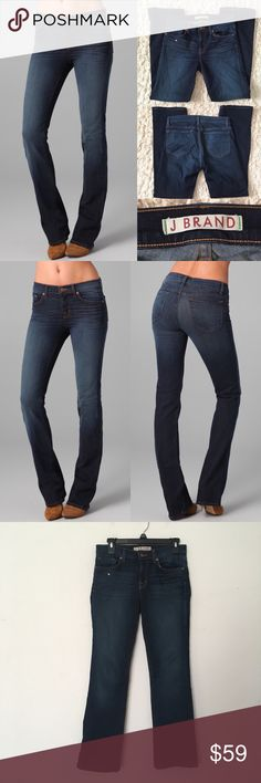 "J Brand Classic Slim Boot Leg Jeans J BRAND Classic Slim Boot Leg Jeans. Size 27. Stretchy. Worn 3-4 times. Great condition! Materials: 98% Cotton/2% Elastane Actual Measurements (laying flat): • Waist - 30"" around • Hips - 16"" • Rise - 8""  • Inseam - 29""  • Length - 37.5""  • Cuff - 8""  ~❌SWAP❌TRADE ~ ✔️❤️Bundles📦💕 ~✔️Smoke-free/pet-free home Anthropologie Jeans Boot Cut"