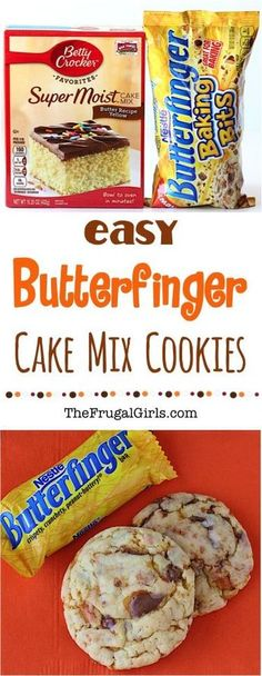 You Have Meals Poisoning More Normally Than You're Thinking That Butterfinger Cookies Recipe From This Easy Cake Mix Cookie Recipe Has Just 4 Ingredients And Will More Than Satisfy Those Cravings For Butterfingers Simple And So Delicious Cake Mix Cookie Recipes, Easy Cheesecake Recipes, Yummy Cookies, Cake Mixes, Cookies From Cake Mix, Yellow Cake Mix Cookies, Cookie Recipie, Making Cookies, Gourmet Cookies