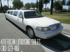 2001 LINCOLN Town Car White 180-inch 16 Pass. Limousine #1645 - $16995   Visit our website at: Americanlimousinesales.com