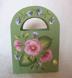 PINK Floral Paper Desk Caddy GIFT BOX - Wood Favor Box - Floral Blossoms on Etsy, $12.99