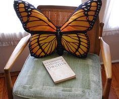 oversized butterfly pillow