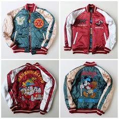 Japanese Japan TDL TOKYO Disneyland DISNEY Mickey Minnie Mouse Souvenir Sukajan Jacket - Japan Lover Me Store