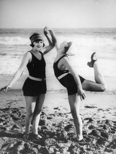 Women began ditching skirts and long sleeves in favor of bathing suits that, while still modest, allowed for more freedom to swim. However, in some areas beach censors still imposed modesty regulations, like making sure shorts were the right length.  - GoodHousekeeping.com