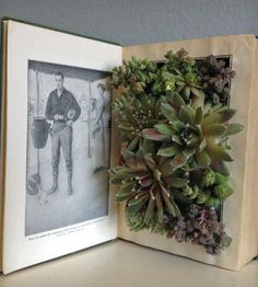 Upcycled Vintage Book Planter - Open by PaperDame on Scoutmob Shoppe