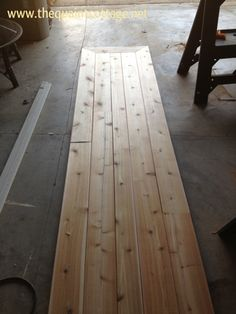 DIY wooden counter top.