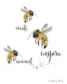 Here are a few bee aspirations worth sharing!  #bees #selfcare  #nature #love #honey