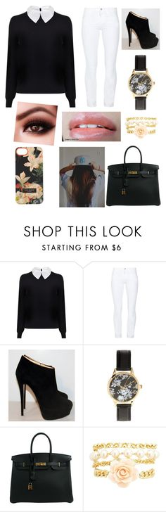 """""""Cute office day ?"""" by milliewoods1219 ❤ liked on Polyvore featuring Carven, J Brand, Giuseppe Zanotti, Hermès, Anna Sui, Charlotte Russe and Ted Baker"""